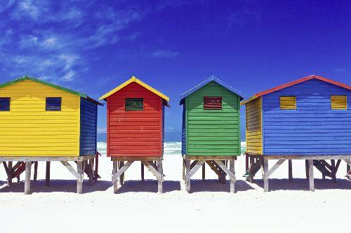 Bild: AP XXL2 - Colorful Houses - 150g Vlies