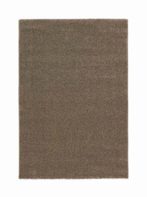 Bild: Kurzflor Teppich Samoa - Uni Design (Haselnuss; 80 x 150 cm)
