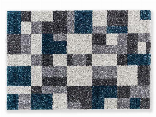 Bild: Astra Hochflor Teppich Savona - Kästchen (Petrol; 130 x 67 cm)