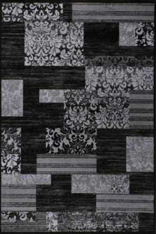 Bild: Teppich Patchwork (Des. 660) (Schwarz)