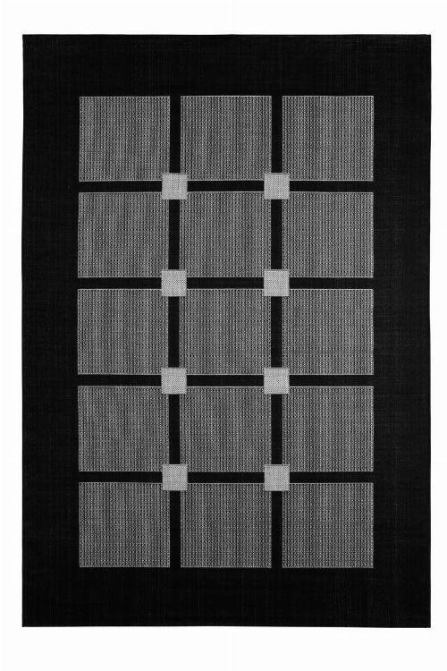 Bild: Flachgewebe Teppich Square (Schwarz; 80 x 150 cm)