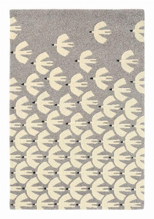 Bild: Scion Schurwollteppich Pajaro (Grau; 140 x 200 cm)