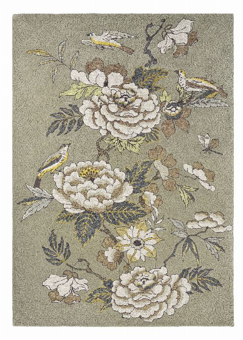Bild: Wedgwood Designer Teppich Paeonia (Taupe; 170 x 240 cm)