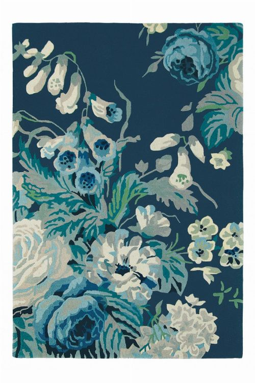 Bild: Schurwollteppich Stapleton Park (Blau; 200 x 280 cm)