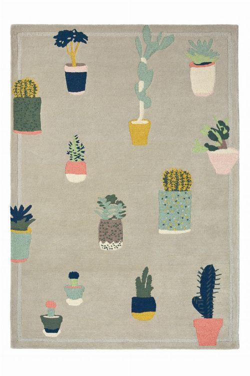 Bild: Ted Baker Schurwoll Teppich Cactus (Grau; 140 x 200 cm)
