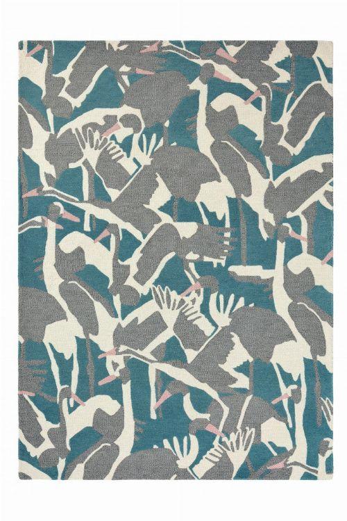 Bild: Ted Baker Wollteppich Cranes (Petrol; 140 x 200 cm)