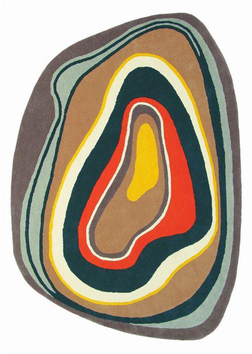 Bild: Schurwollteppich Estella Slice 877306 (Braun; wishsize)