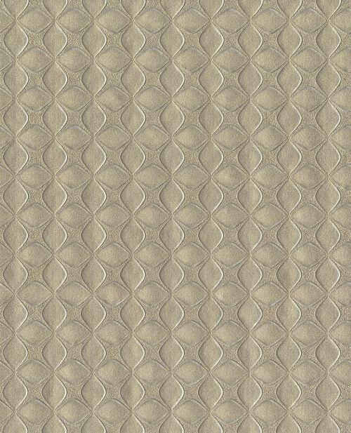 Bild: Eijffinger Vliestapete Reunited 372550 - elegante Struktur (Braungelb)