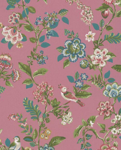 Bild: Eijffinger Tapete PIP 4 375064 - Botanical Print (Rot)