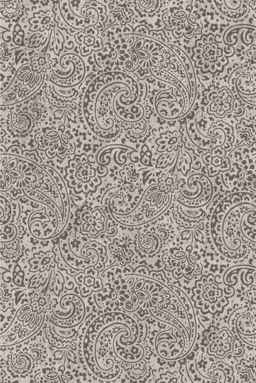 Bild: Eijffinger Tapeten Panel Sundari 375214 - Paisley (Schwarz/Weiß; 280 x 186 cm)