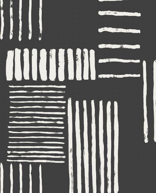 Bild: Eijffinger Mustertapete Stripes+ 377133 - Pinselstriche (Schwarz)