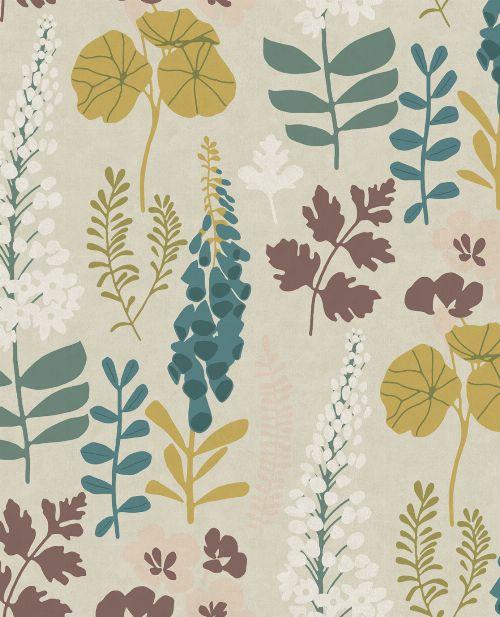 Bild: Eijffinger Vliestapete Vivid 384533 - Blumen (Sand)