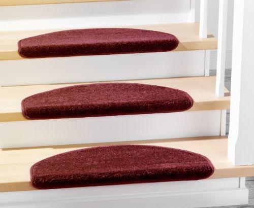 Bild: Stufenmatten - 3er Set - Casa 3937 (Rot; halbrund)