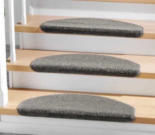 Bild: Stufenmatten - 3er Set - Casa 3937 (Grau; halbrund)