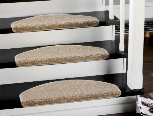 Bild: Stufenmatten - 3er Set - Casa 3937 (Beige; halbrund)