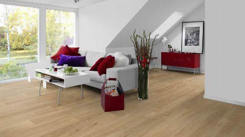 Bild: Design Belag - Uranos - Langdielen Optik (Brushed Pine / Natural Grey)