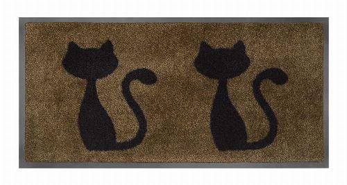 Bild: Schmutzfangmatte Katzen (Beige)