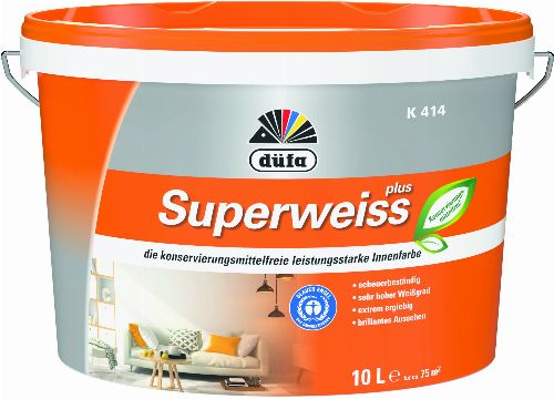 Thumbnail: Düfa K414 Superweiß 10l (K414 Superweiss; 10 Liter)
