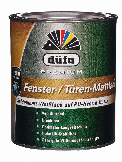 Bild: Premium Fenster- & Türlack seidenmatt (Weiß; 750 ml)