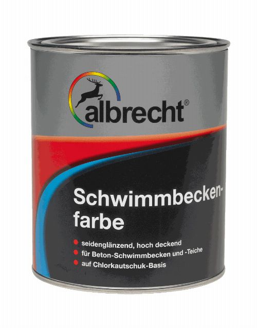 Thumbnail: Schwimmbeckenfarbe (RAL 9110; 750 ml)