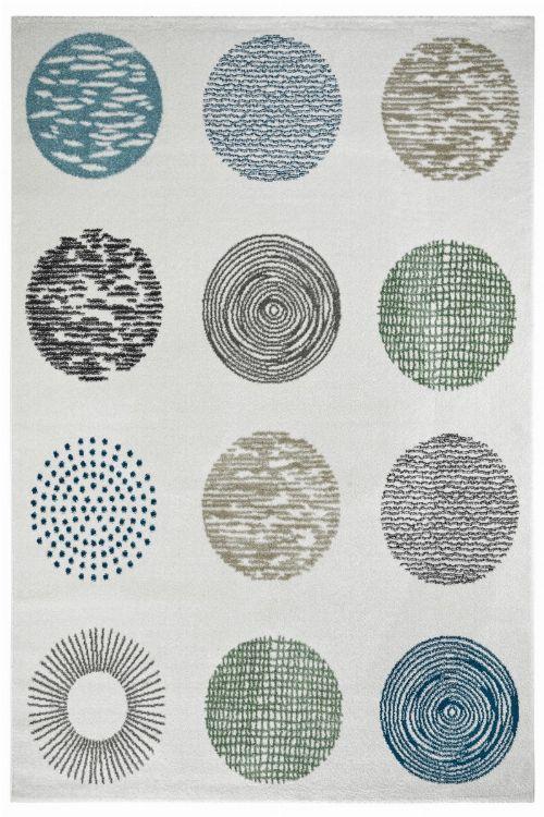 Bild: Moderner Teppich - Circles (Creme; 160 x 230 cm)