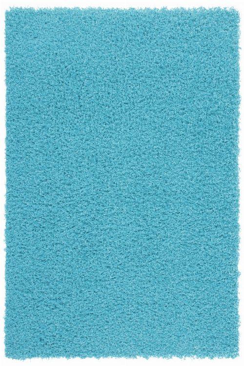 Bild: Günstiger Hochflorteppich - Funky (Aqua; 40 x 60 cm)