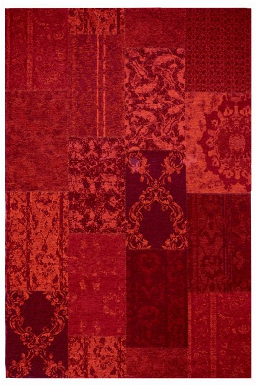 Bild: Jaquard Flachgewebe Teppich - Patchwork (Rot; 57 x 110 cm)