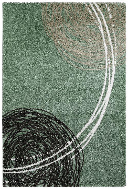 Bild: Moderner Teppich - Fantasy Lines (Jade; 80 x 150 cm)
