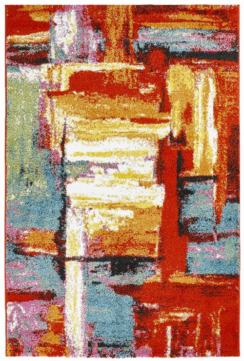 Bild: Kurzflor Teppich - Colourful Arty (200 x 290 cm)