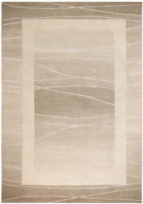 Bild: Original Nepal Bordürenteppich Linea (Beige; 140 x 200 cm)