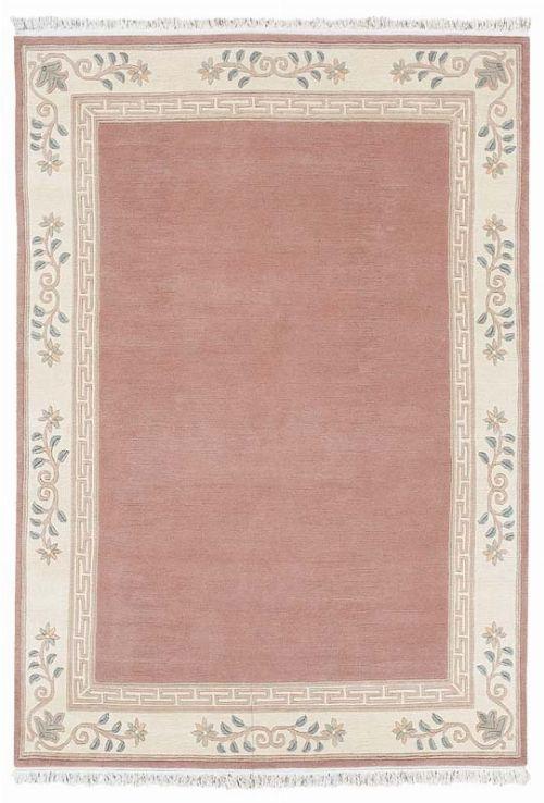Bild: Original Nepal Bordürenteppich Classica (Altrose; 140 x 200 cm)