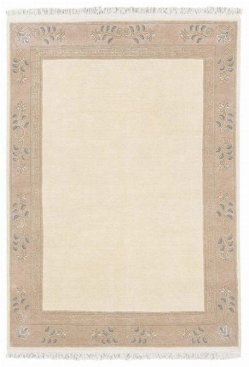 Bild: Original Nepal Bordürenteppich Classica (Creme; 200 x 300 cm)