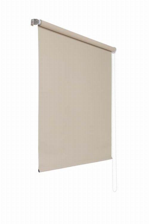 Bild: Lichtundurchlaessiges Seitenzugrollo (Creme; 180 x 80 cm)