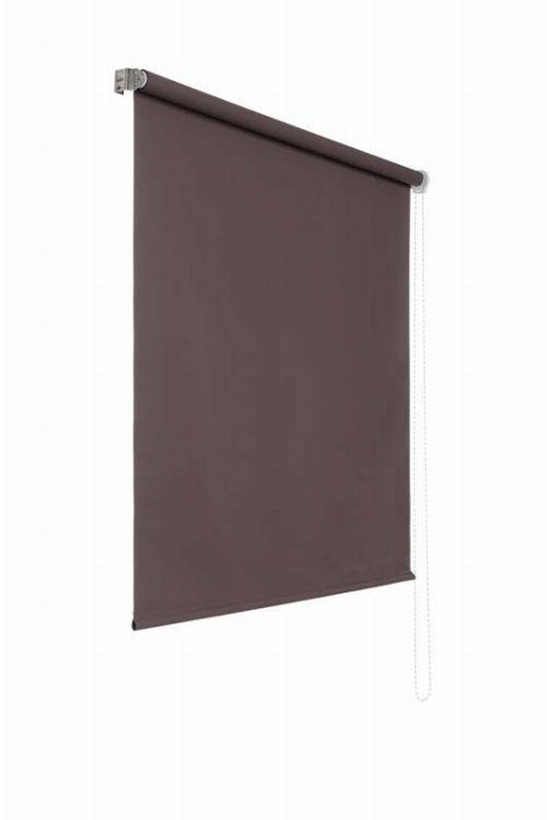 Bild: Lichtundurchlaessiges Seitenzugrollo (Braun; 180 x 140 cm)