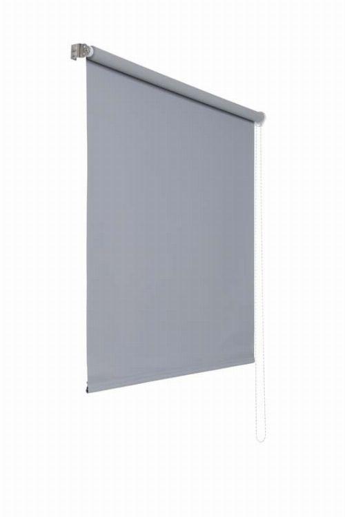 Bild: Lichtundurchlaessiges Seitenzugrollo (Grau; 180 x 160 cm)