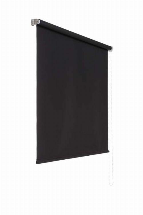 Bild: Lichtundurchlaessiges Seitenzugrollo (Schwarz; 180 x 160 cm)