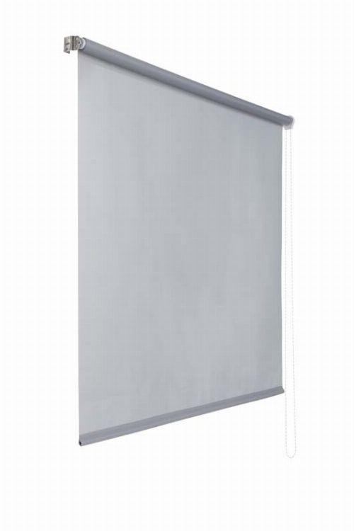 Bild: Lichtdurchlaessiges Seitenzugrollo (Grau; 180 x 60 cm)