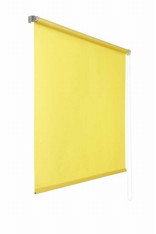 Bild: Lichtdurchlaessiges Seitenzugrollo (Gelb; 180 x 60 cm)