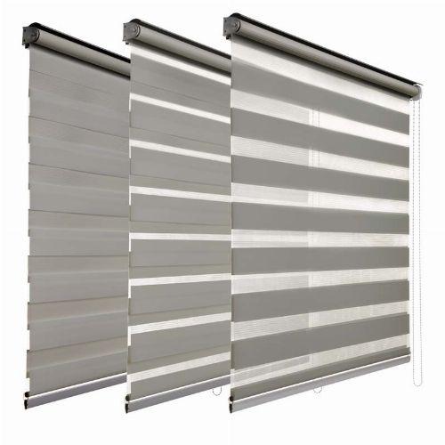 Bild: Duo Doppelrollo (Grau; 180 x 100 cm)
