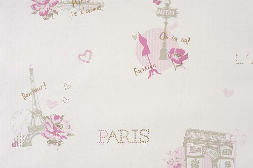 Bild: GIRLS ONLY Tapete GLN62011060 - Paris (Rosa)