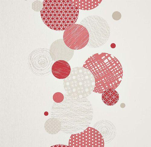 Bild: Vitamine - VTA62869016 - Tapete: Punkte (Rot)