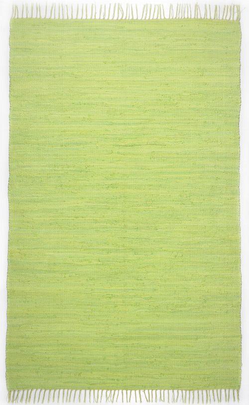 Bild: Webteppich Happy Cotton Uni (Grün; 140 x 70 cm)