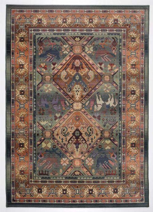 Bild: Teppich Gabiro 13 (Grün; 135 x 68 cm)