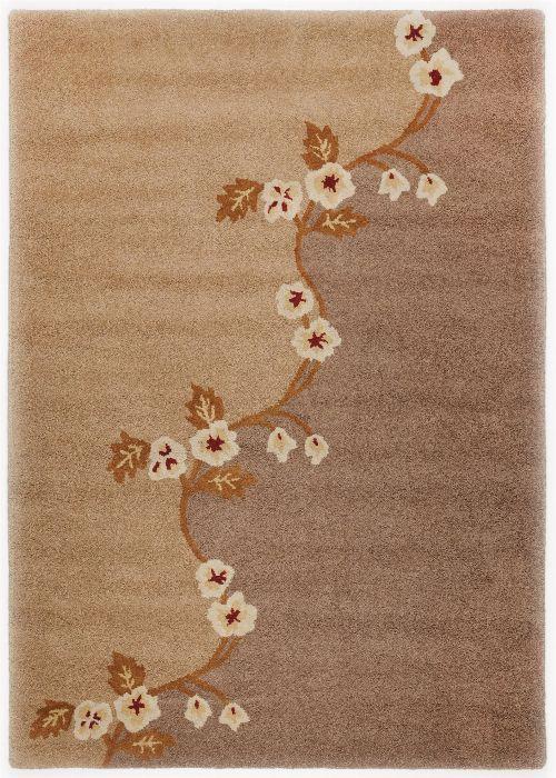 Bild: Schurwollteppich Santorino 1233 (Braun; 90 x 160 cm)