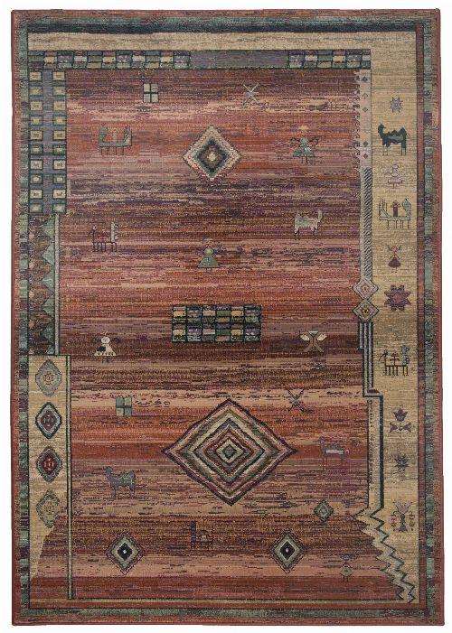 Bild: Teppich Gabiro Des.002 Gabbeh Optik (Terrakotta; 68 x 135 cm)