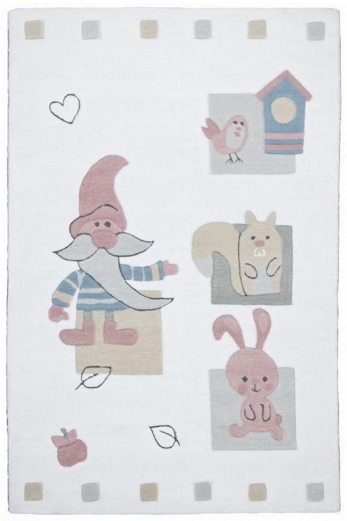 Bild: Kinderteppich Zwerg Kindergarten MH-3979 (Weiß; 100 x 160 cm)