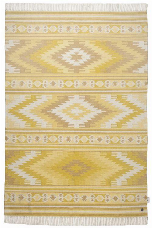 Bild: Ethno Teppich - Kelim Colors I (Gelb; 140 x 200 cm)