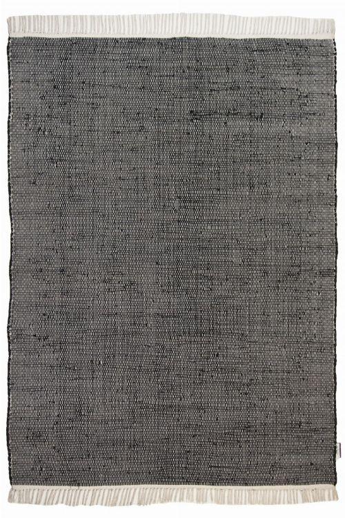 Bild: Flickenteppich - Cotton Color (Schwarz; 160 x 230 cm)