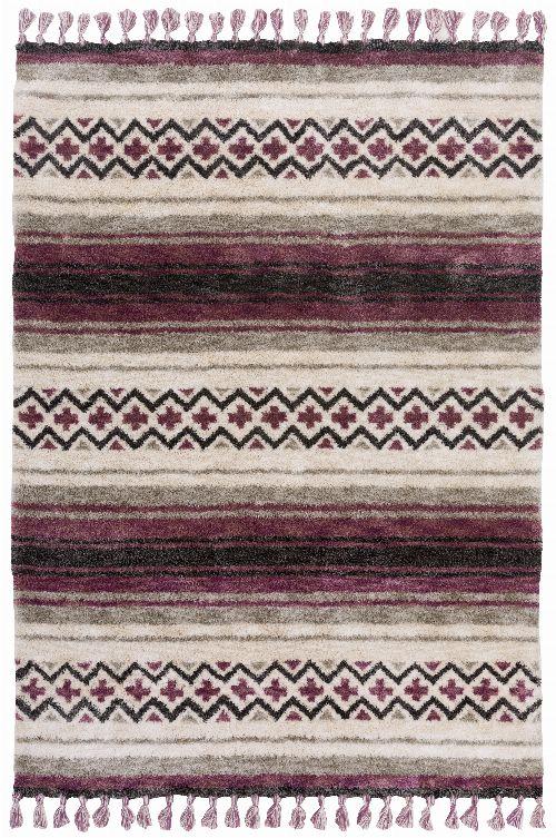 Bild: Gino Falcone Teppich Vittoria - Stripes (Berry; 120 x 170 cm)
