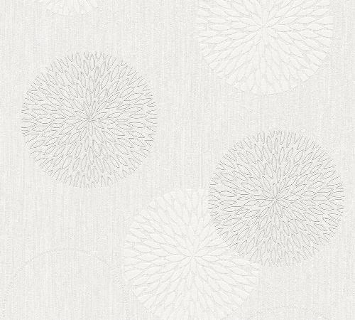Bild: Modern Flowers Tapete 4557 (Creme)